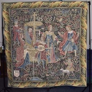 Tapestry Wall Hanging Art Medieval 63 x 63